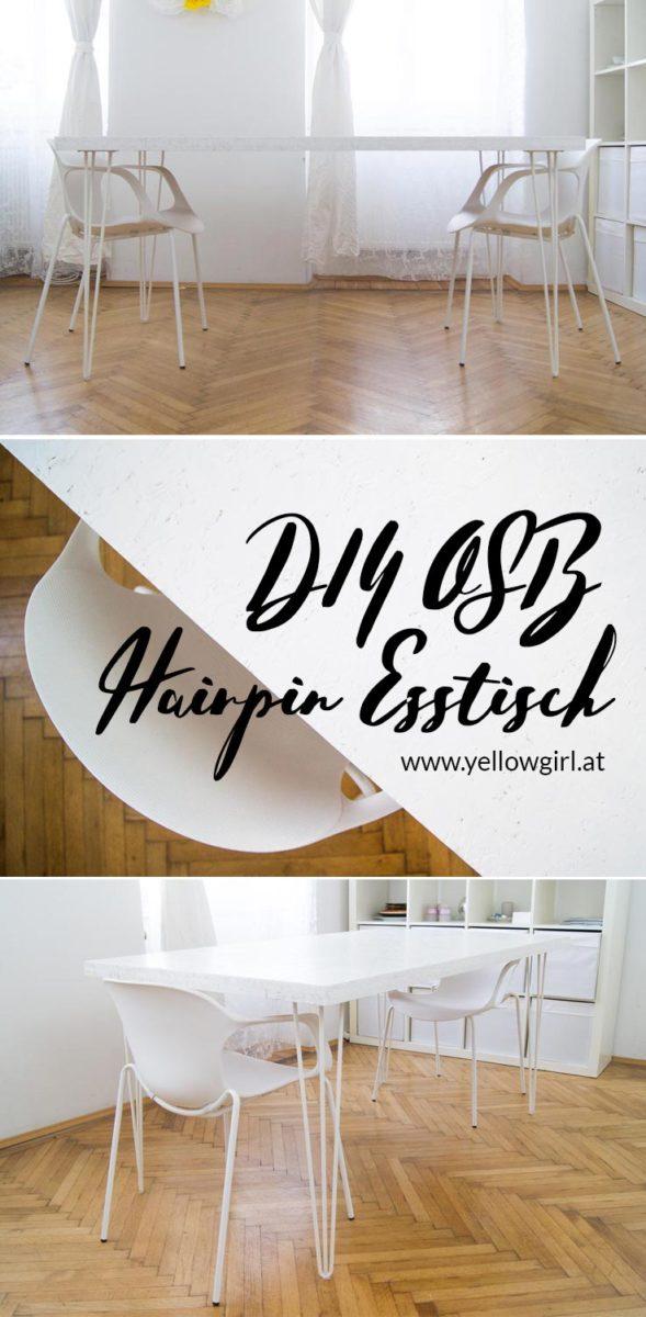 diy OSB Hairpin Essstisch