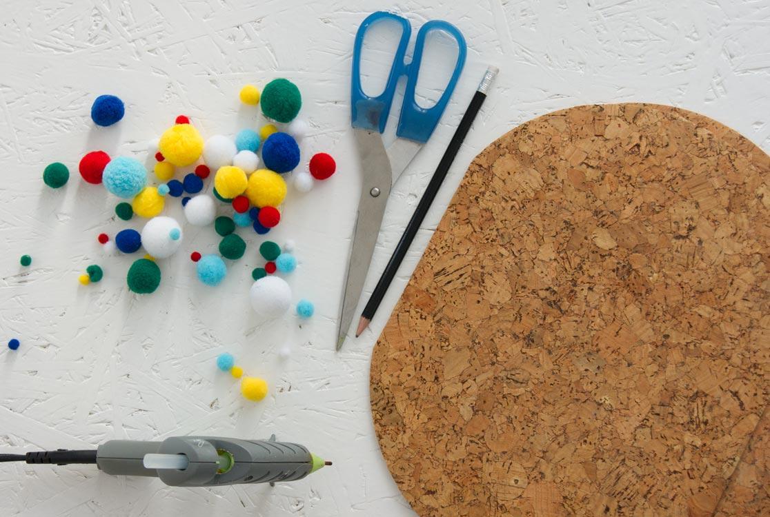 DIY Pom Pom Untersetzer